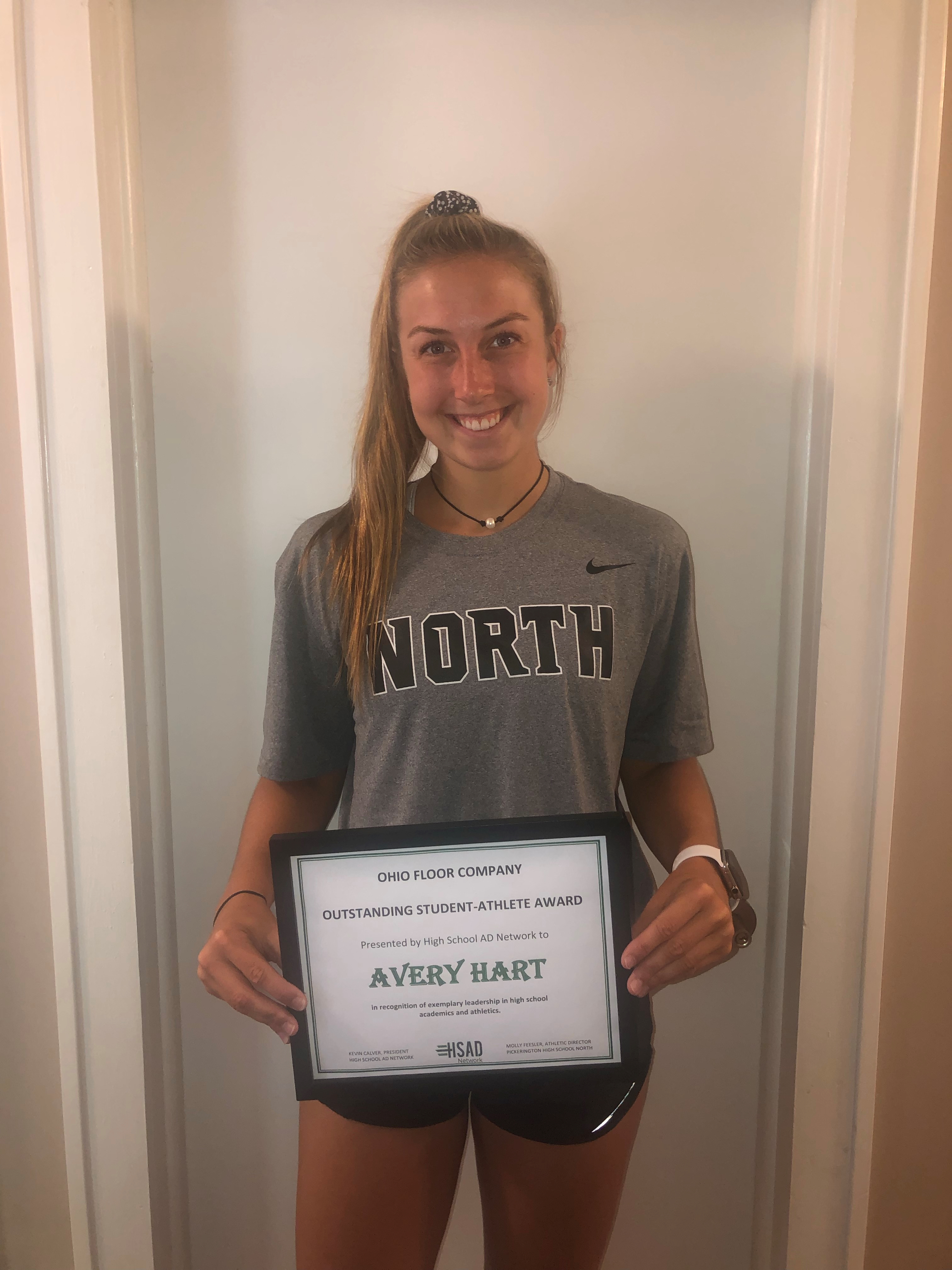 A picture of Avery Hart who has received an HSAD Network Scholarship in 2019!