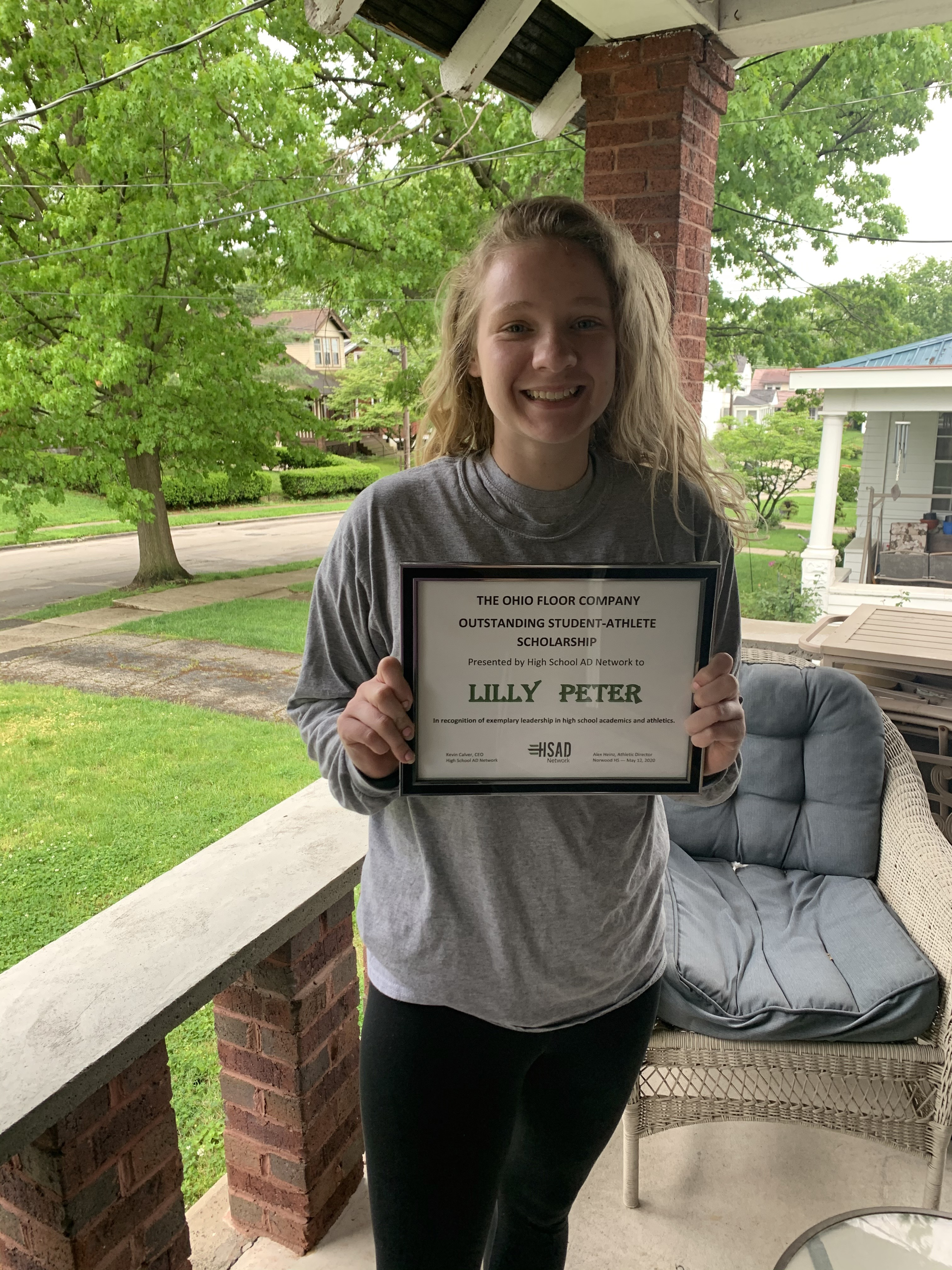 A picture of Lilly Peter who has received an HSAD Network Scholarship in 2020!